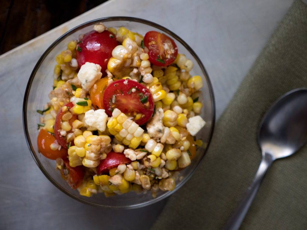 Grilled Italian Corn Salad