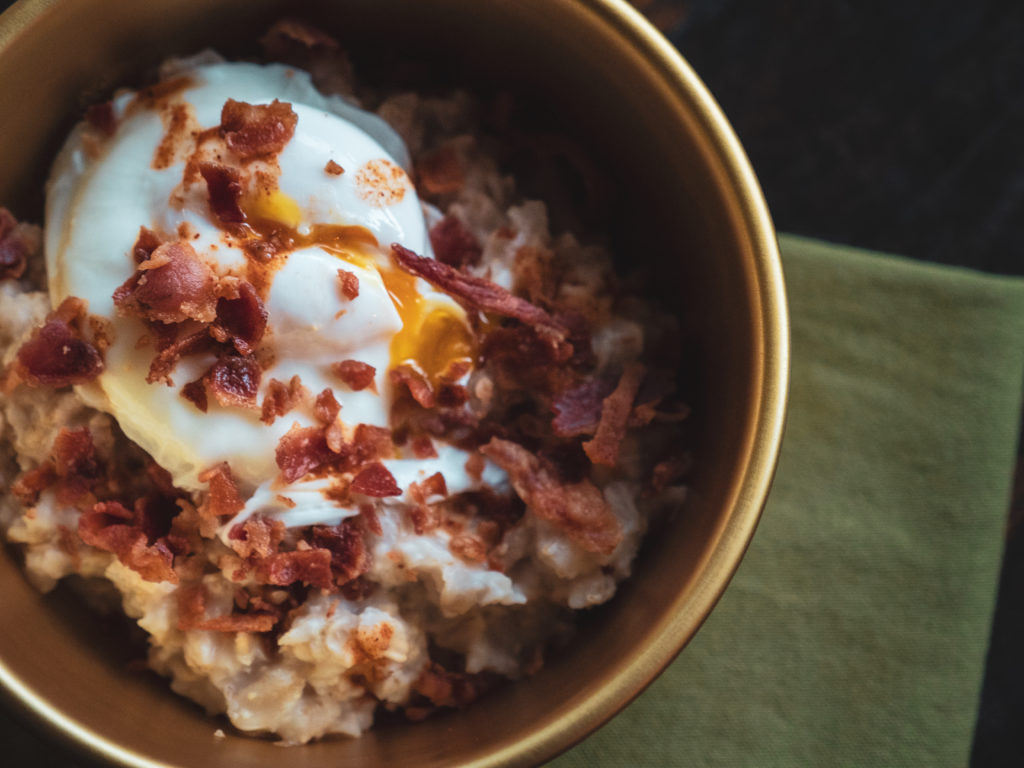 Savory Oatmeal with Poached Egg