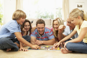 family-plays-board-games