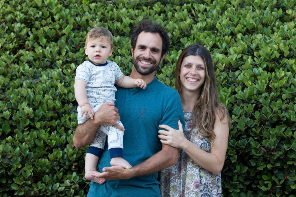 Marco and Juliana with their son, Teo.