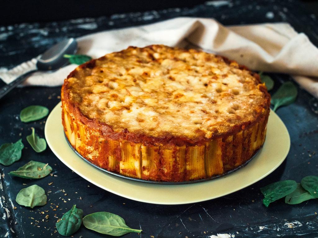 Spicy Rigatoni Pie